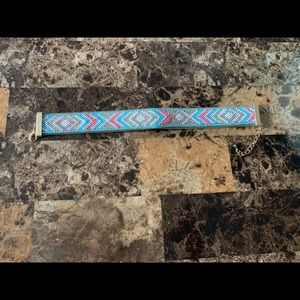 Blue, Pink, and Silver Choker